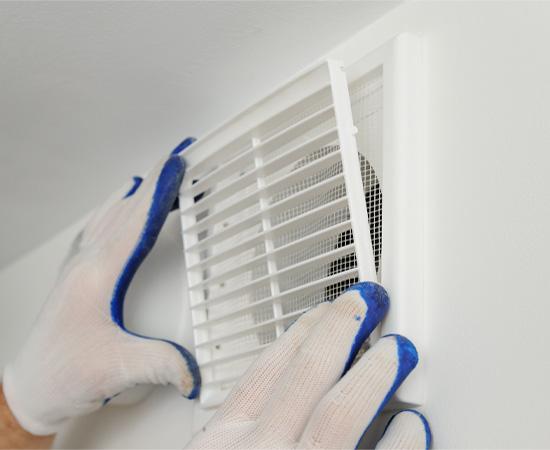 Pose de système de ventilation à Bachy